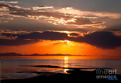 Aaa Sunset Over The Great Salt Lake Utah Original