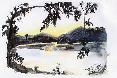 Switzerland Painting - Aare Am Abend by Jana Goode
