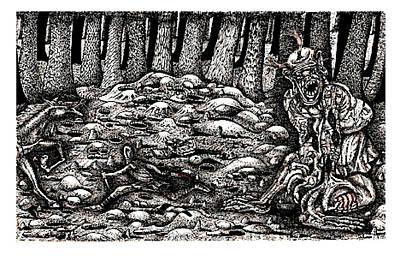 Aaron Battles The Ogre Print by Al Goldfarb