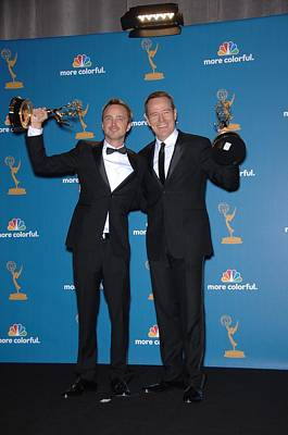 Academy Of Television Arts Photograph - Aaron Paul, Bryan Cranston In The Press by Everett