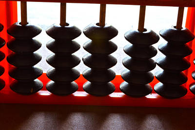 Close-up Photograph - abacus II by Bill Owen