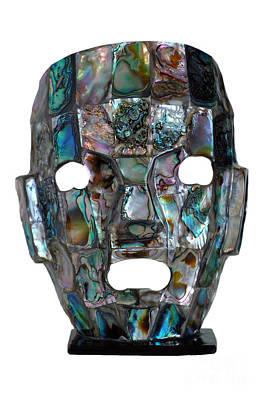 Abalone Mayan Mask Art Print