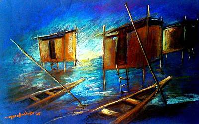 Painting - Abandoned At Aleibri by Oyoroko Ken ochuko
