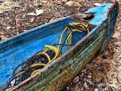 Photograph - Abandoned Boat by Alexandra Jordankova