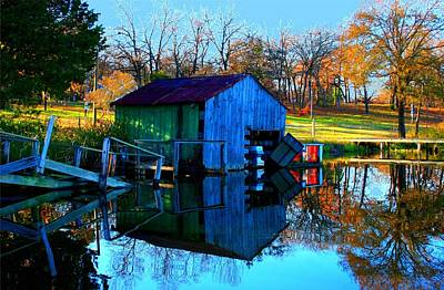 Abandoned Boat House Art Print by Carrie OBrien Sibley