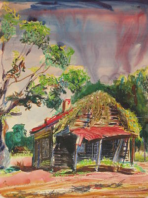 Kudzu Painting - Abandoned Cabin In Georgia by Sid Solomon