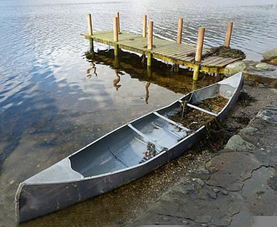 Art Print featuring the photograph Abandoned Canoe by Lynn Bolt