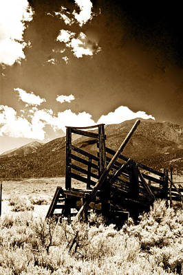 Photograph - Abandoned Cattle Shoot by Gary Brandes