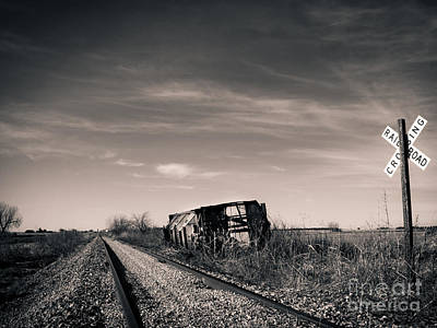 Old Caboose Photograph - Abandoned  by Christina Klausen