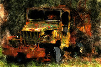 Photograph - Abandoned Drill Rig Carmel Valley by Jim Pavelle