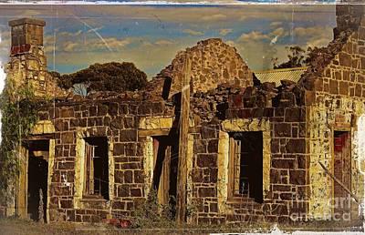 Print featuring the digital art Abandoned Farmhouse by Blair Stuart