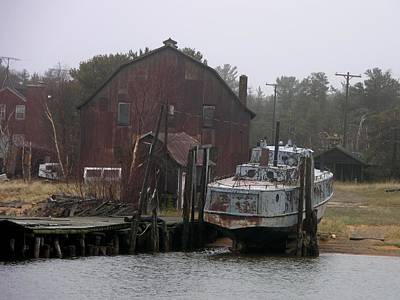 Photograph - Abandoned Fishing Boat by Keith Stokes