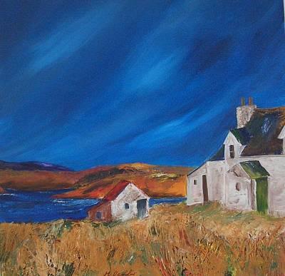 Scotland Painting - Abandoned Hebridean Cottage by Margaret Denholm