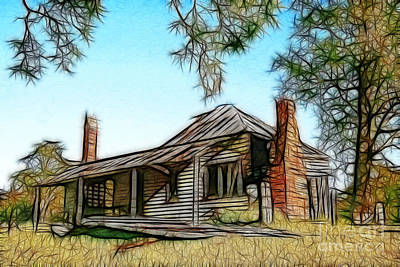 Abandoned Homestead Art Print by Brian Gunter