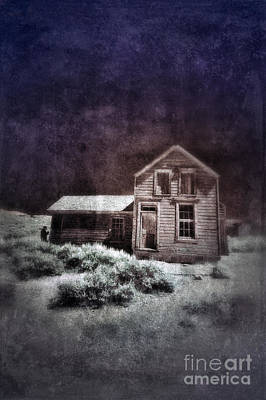Abandoned House In Infrared Art Print by Jill Battaglia