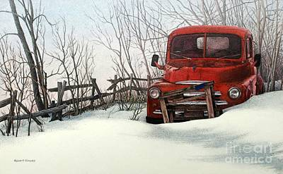 Painting - Abandoned In Alberta by Robert Hinves