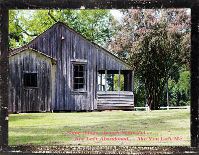 Photograph - Abandoned by Lori Mellen-Pagliaro