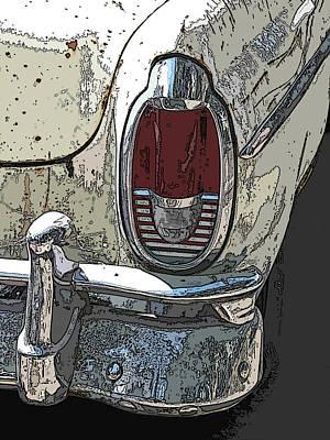 Abandoned Mercury Montclair Tail Light Art Print by Samuel Sheats