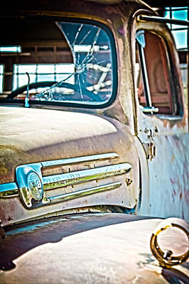 Abandoned Red Truck Art Print