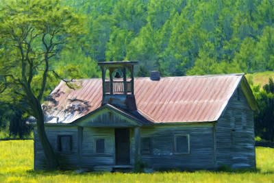 Schoolhouse Mixed Media - Abandoned Schoolhouse by Renee Skiba