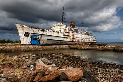 Ferry Digital Art - Abandoned Ship by Adrian Evans