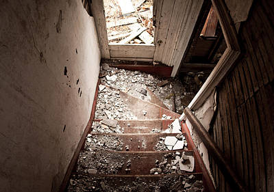 Stair Case Photograph - Abandoned Stairs 2 by Cale Best