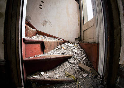 Hand Crafted Photograph - Abandoned Stairs by Cale Best