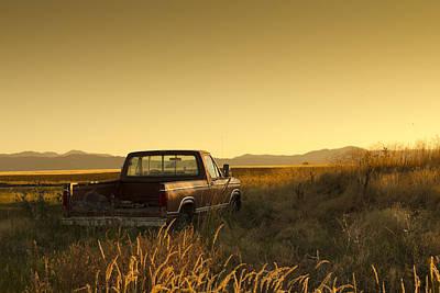 Abandoned Truck In Rural Area Art Print