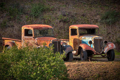 Photograph - Abandoned Trucks by Connie Cooper-Edwards