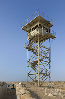 Abandoned Military Bases Photograph - Abandoned Watchtower In The Desert by Noam Armonn