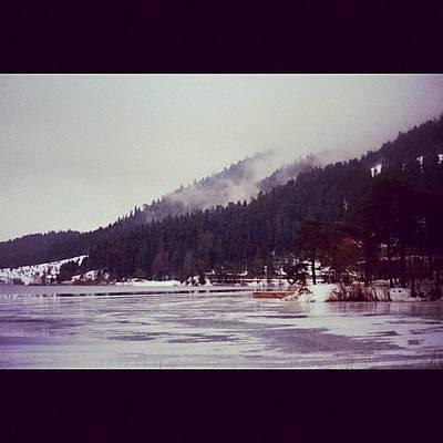 Mountain Wall Art - Photograph - #abant #turkey #lake #winter #snow by Ozan Goren