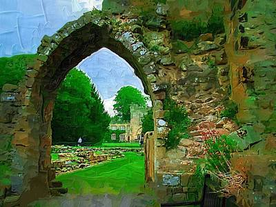 Digita Art Digital Art - Abbey Archway by Amanda Moore