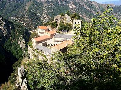 Mountain View Photograph - Abbey St Martin Du Canigou France by Marilyn Dunlap