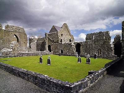 Abbeyknockmoy, Cistercian Abbey Of Art Print by The Irish Image Collection