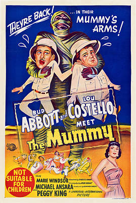 Abbott And Costello Meet The Mummy Art Print