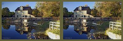 Abbotts Pond - Gently Cross Your Eyes And Focus On The Middle Image Art Print by Brian Wallace