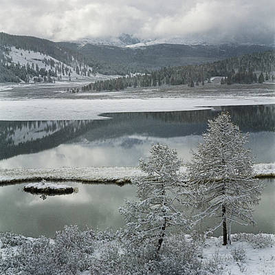 Thawing Time Photograph - Abchidon Lake by Pavel  Filatov