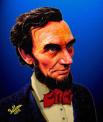 Abe Lincoln Blue Art Print by Che Rellom