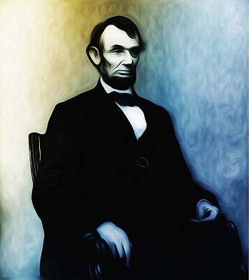 President Mixed Media - Abe Lincoln Seated by Bill Cannon