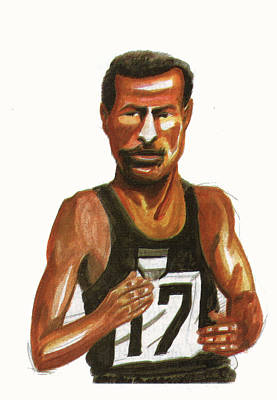 Abebe Bikila Art Print by Emmanuel Baliyanga