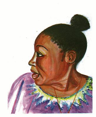 Redoutable Painting - Abeti Masikini by Emmanuel Baliyanga