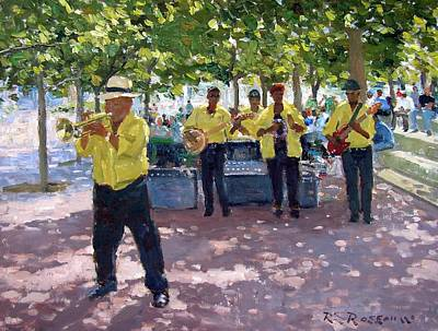 Trumpet Painting - Abie Thomas At The Waterfront by Roelof Rossouw