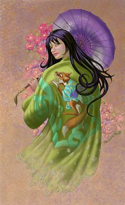 Fox Digital Art - Abigail As Geshia by Pat Lewis