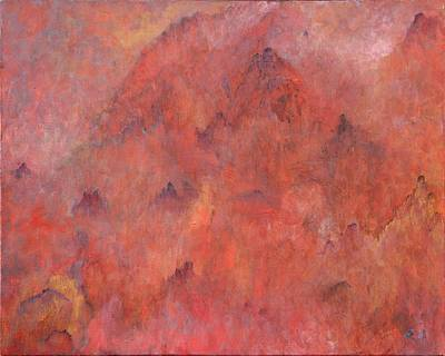 Contemplative Painting - Abode Of The Immortals by Ruth Drayer