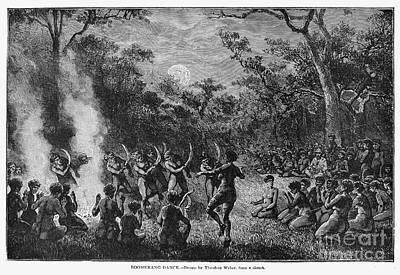 Nude Native Men Photograph - Aborigines, 19th Century by Granger