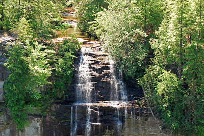 Photograph - Above And Below Falls by Teresa Blanton
