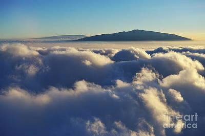 Above Clouds At Sunset Print by Sami Sarkis