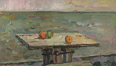 Painting - Above Sea by Juliya Zhukova