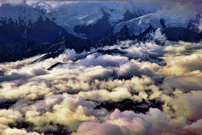 Alaska Mountains Photograph - Above The Clouds by Rick Berk
