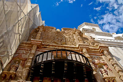 Above The Front Entry San Xavier Mission Print by Jon Berghoff